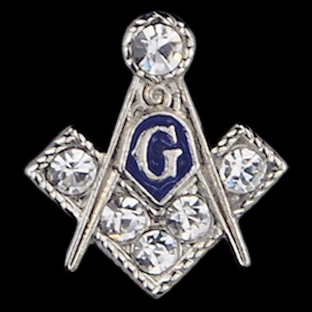 Masonic Crest with Jewels Lapel Pin - GreekStuff